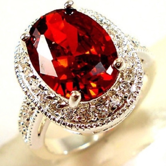 Beautiful Cubic Zirconia Rings 925 Sterling Silver